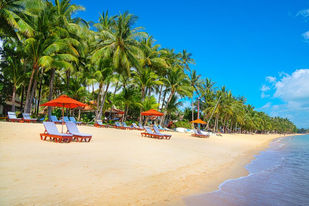Шикарные пляж острова Самуи